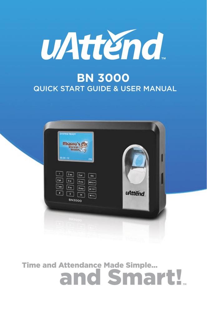 bN 3000 - UAttend | manualzz com