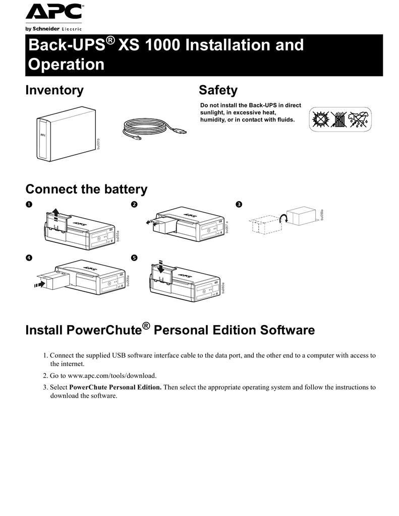 Back-UPS 1000 Installation and Operation   manualzz com