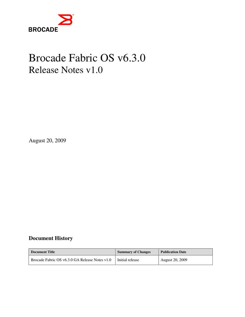 Brocade Fabric OS v6 3 0 | manualzz com