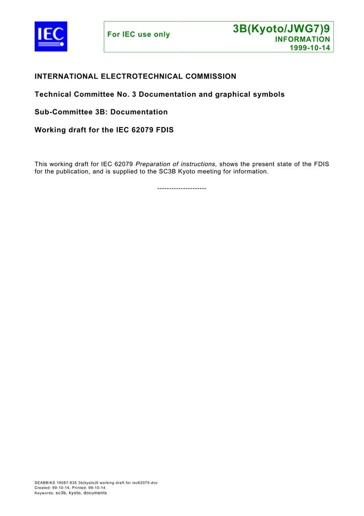 Working draft for the IEC 62079 FDIS | manualzz com