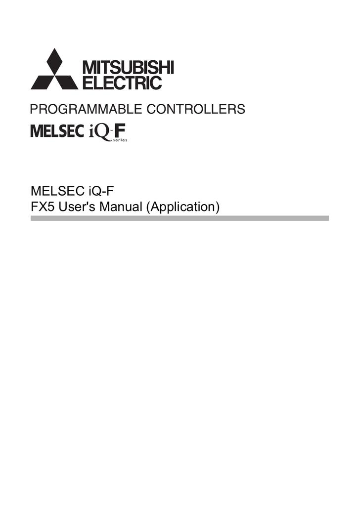 MELSEC iQ-F FX5 User`s Manual (Application) | manualzz com