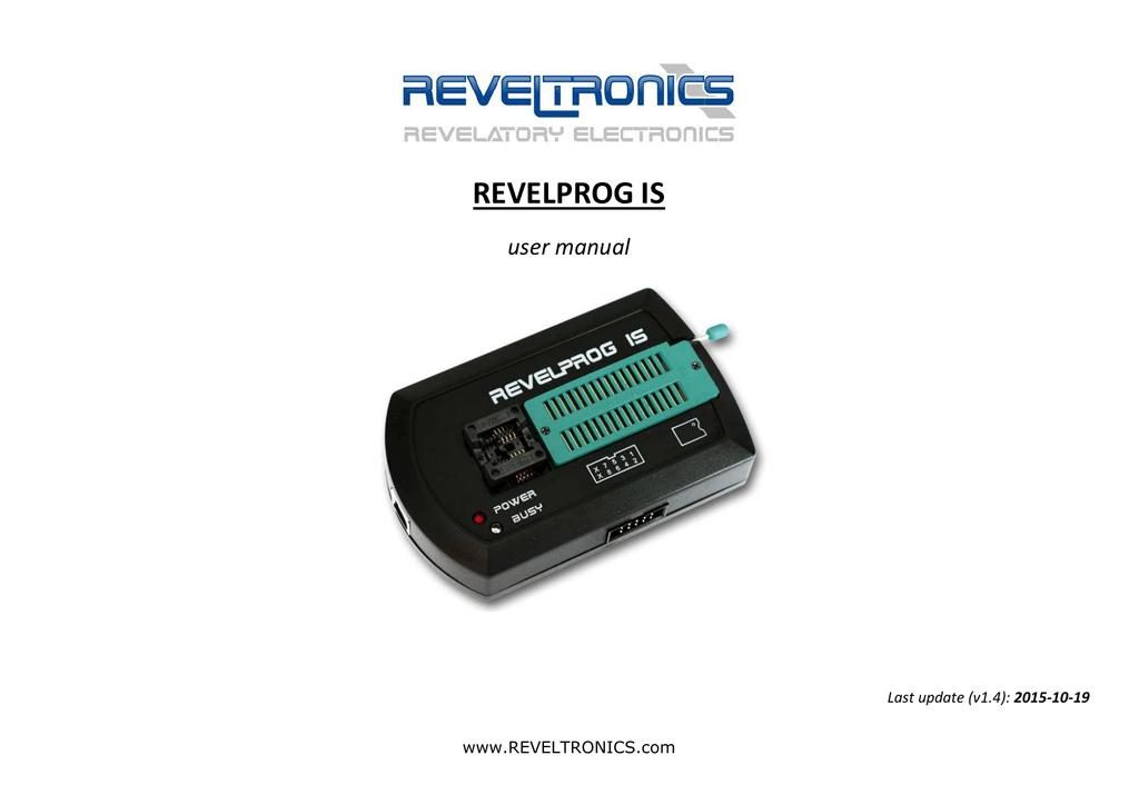 REVELPROG IS - User Manual () | manualzz com