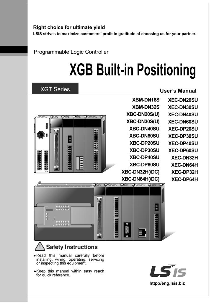 XGB Built-in Positioning User Manual | manualzz com
