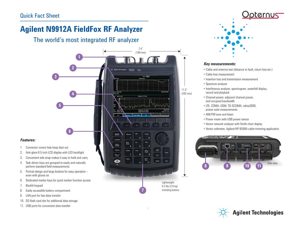 Agilent N9912A FieldFox RF Analyzer   manualzz com