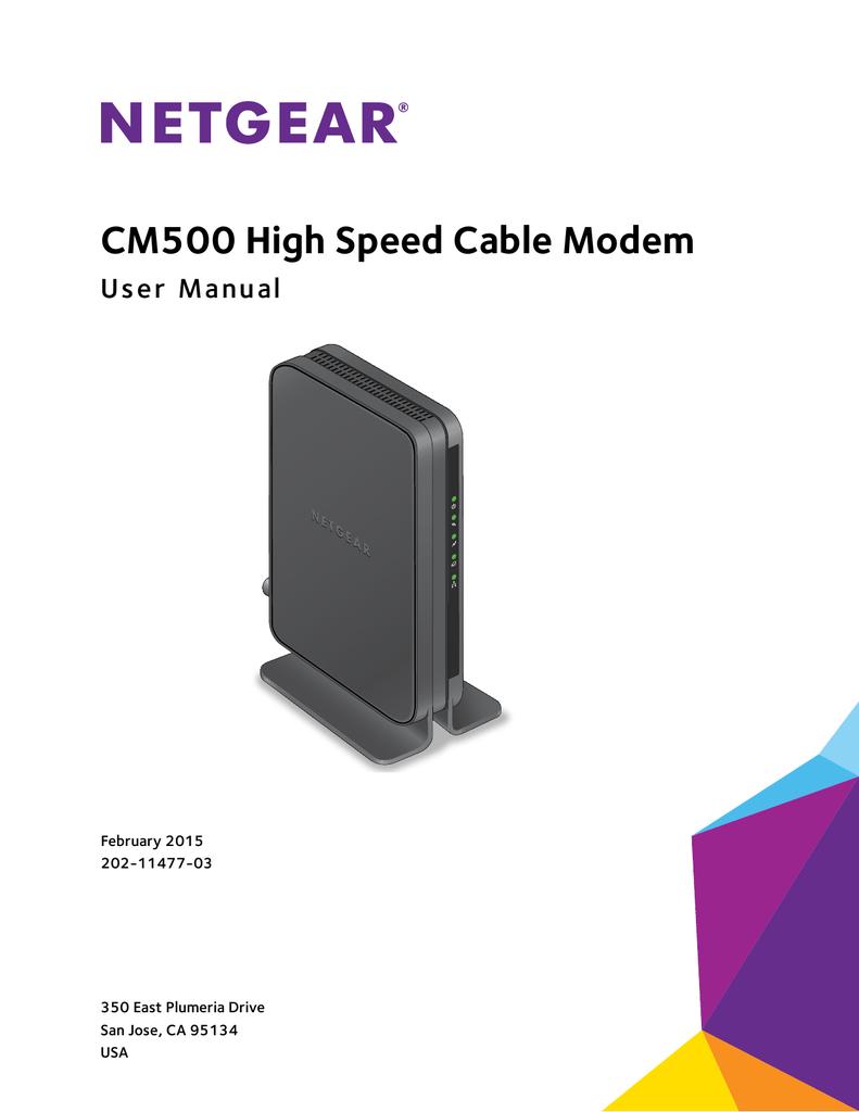 CM500 High Speed Cable Modem User Manual   manualzz com