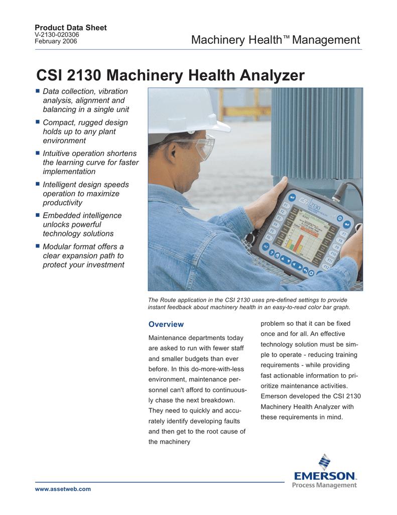 csi 2130 machinery health analyzer manualzz com rh manualzz com csi 2140 user manual csi 2130 operating manual
