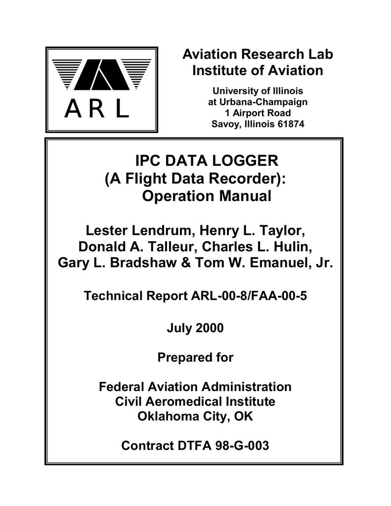 A Flight Data Recorder): Operation Manual | manualzz com