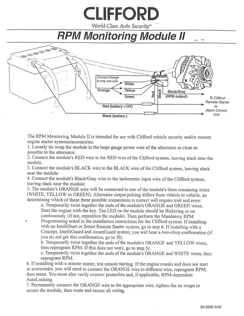 Clifford Concept 600 Alarm Wiring Diagram
