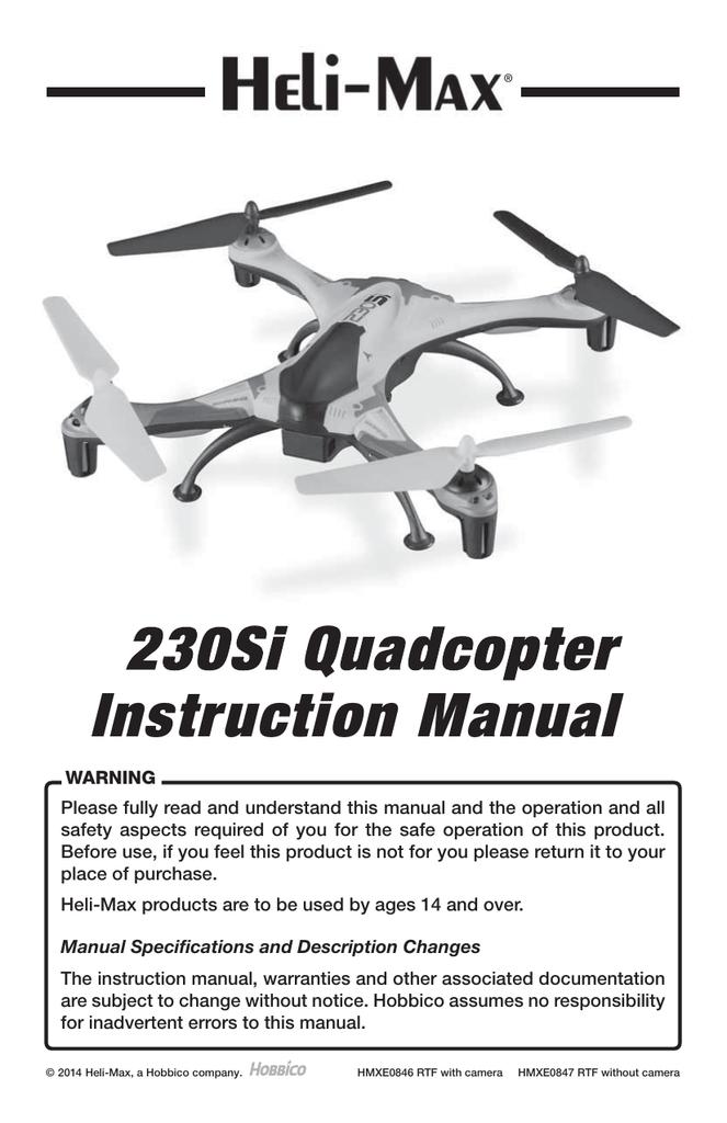 230Si Quadcopter Instruction Manual | manualzz com