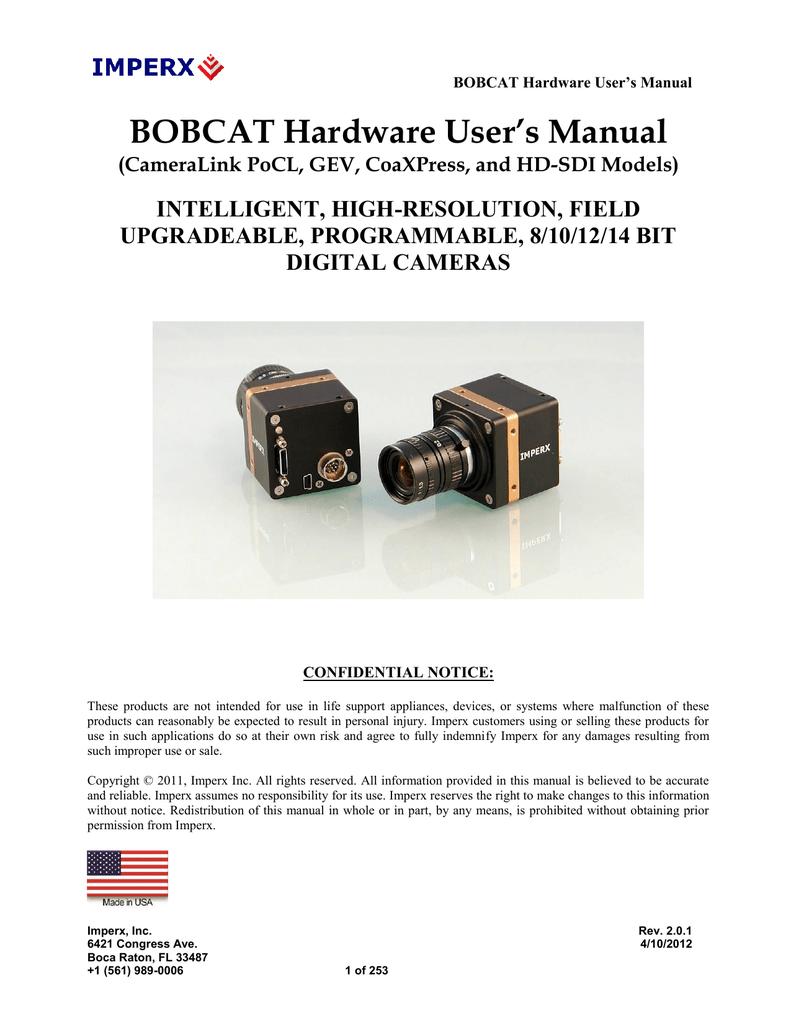 BOBCAT Hardware User`s Manual | manualzz com