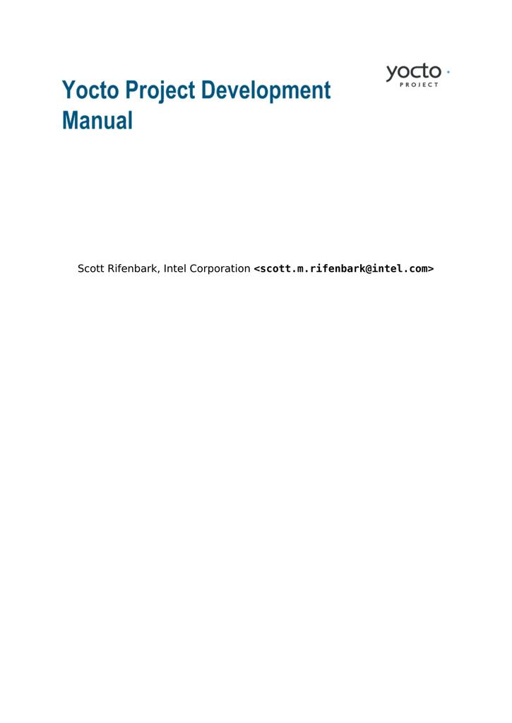 Yocto Project Development Manual | manualzz com