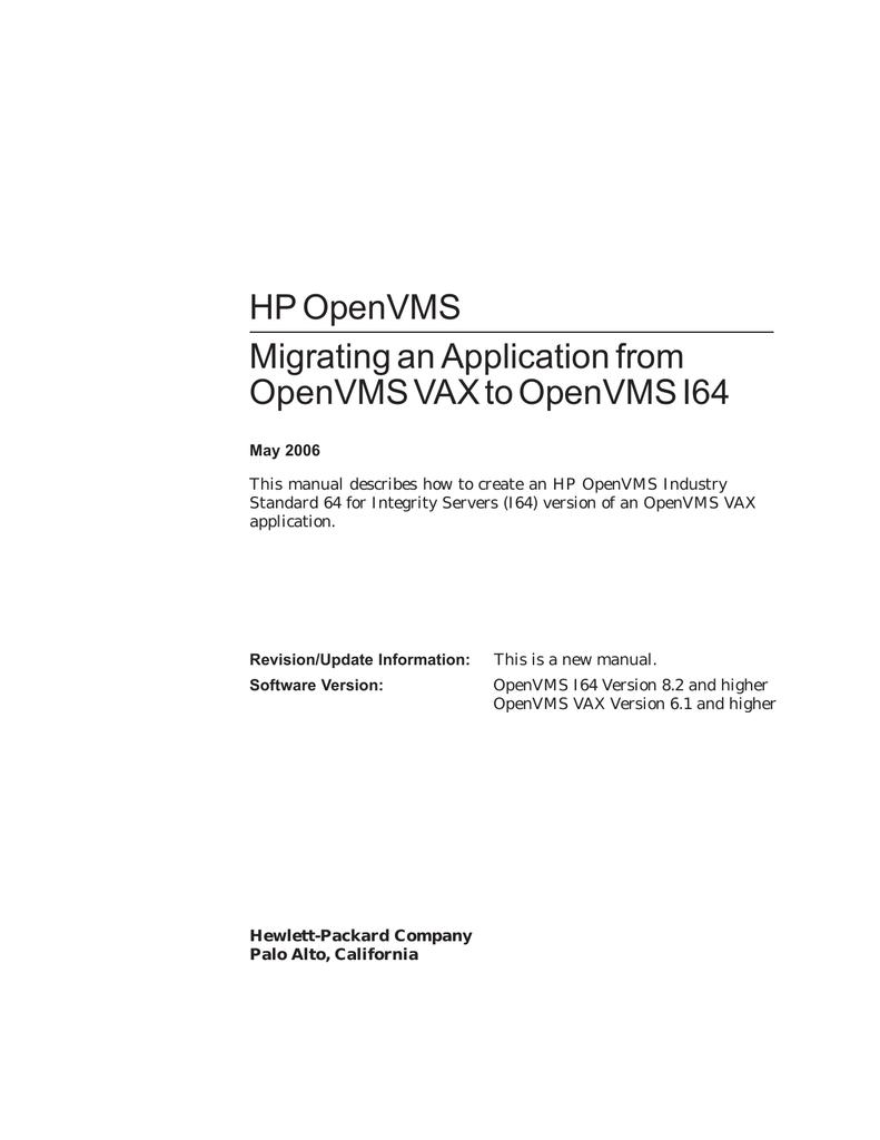 Itanium Emulator Openvms