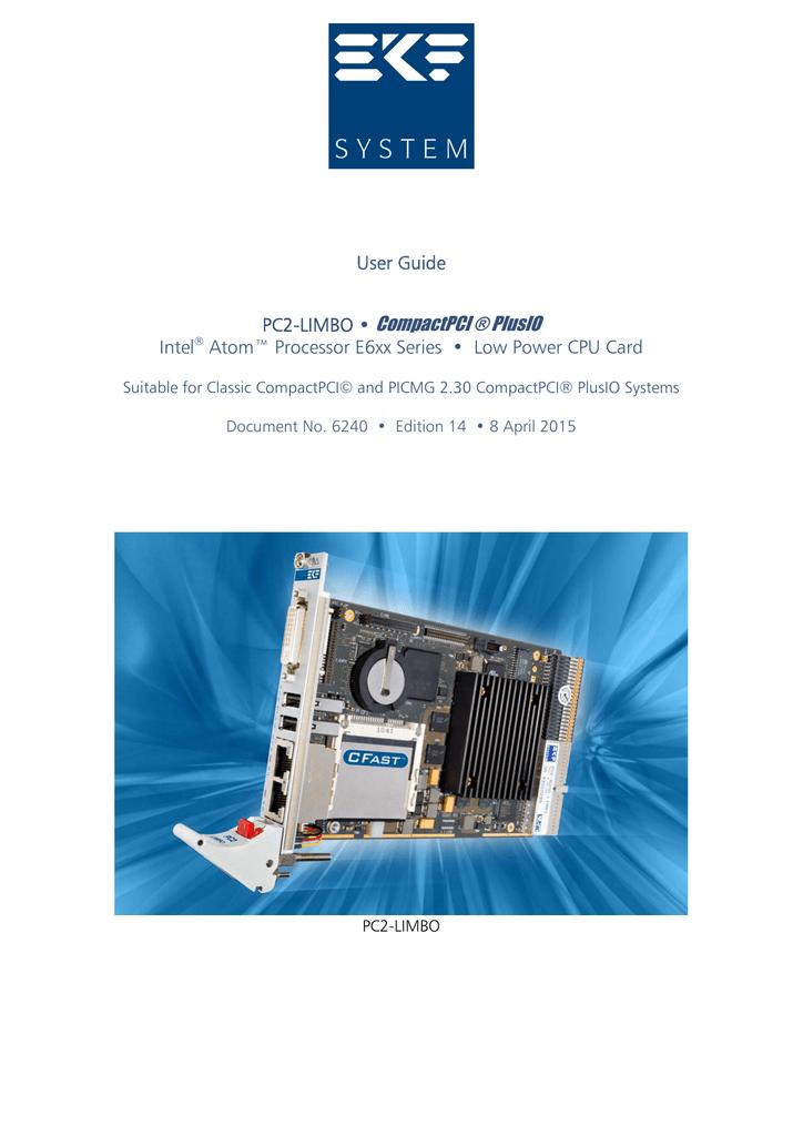 PC2-LIMBO • CompactPCI ® PlusIO   manualzz com