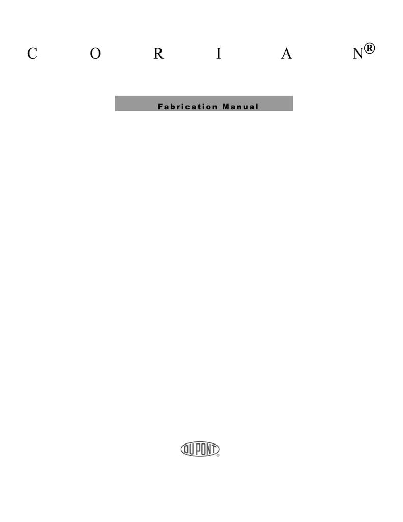 Corian ® Fabrication Manual | manualzz com
