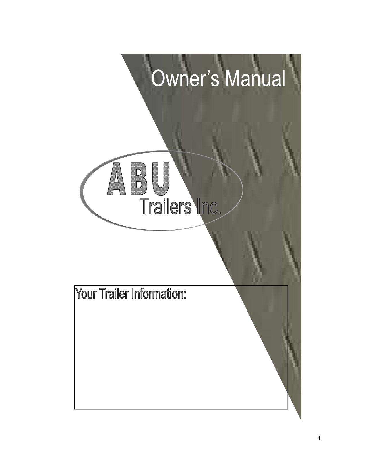 Abu Trailers Inc Owners Manual Moreover Car Hauler Trailer Plans Utility Wiring
