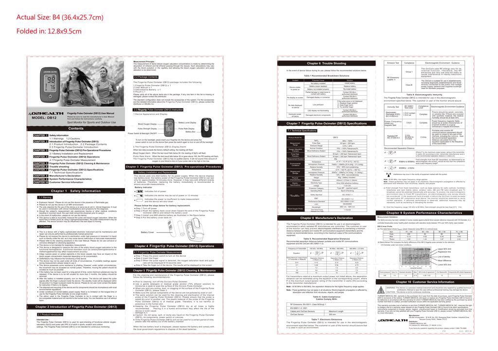 O2Health DB12 User Guide / Manual   manualzz com