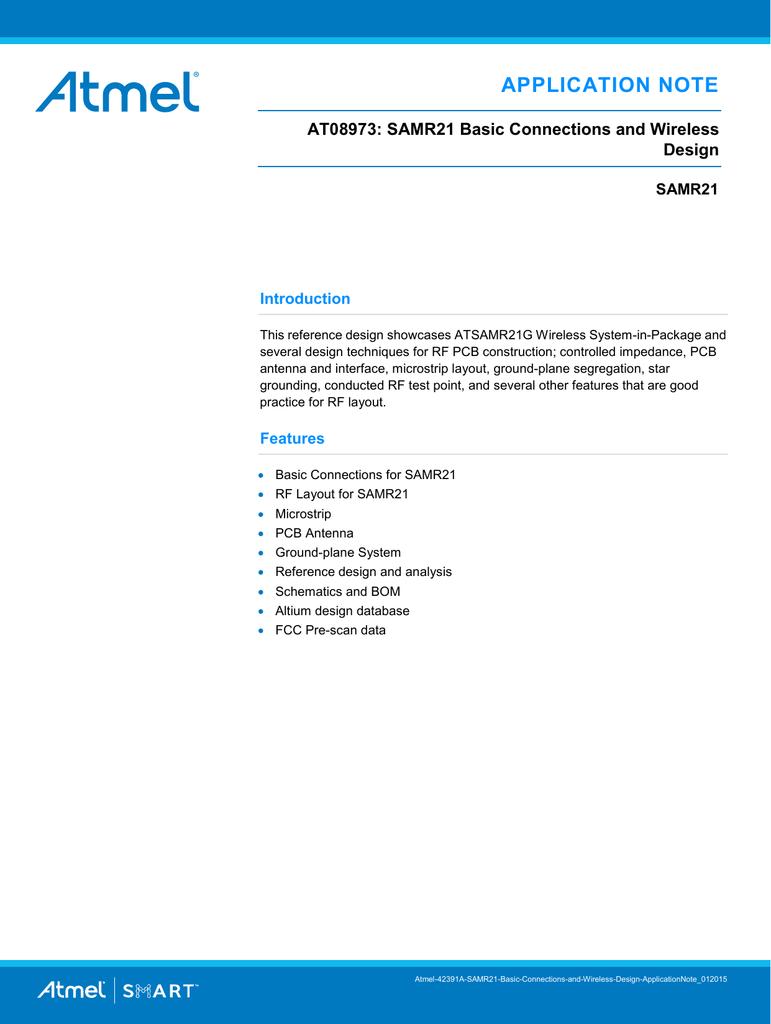 Atmel AT08973: SAMR21 Basic Connections | manualzz com