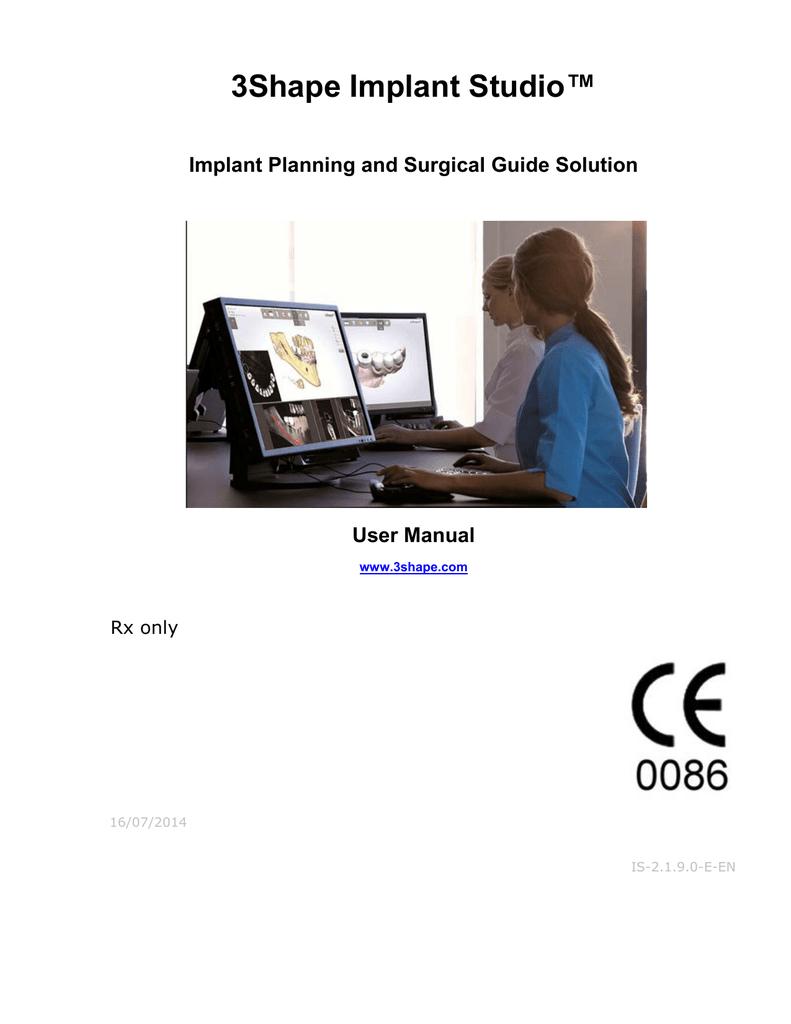 3Shape Implant Studio™ | manualzz com