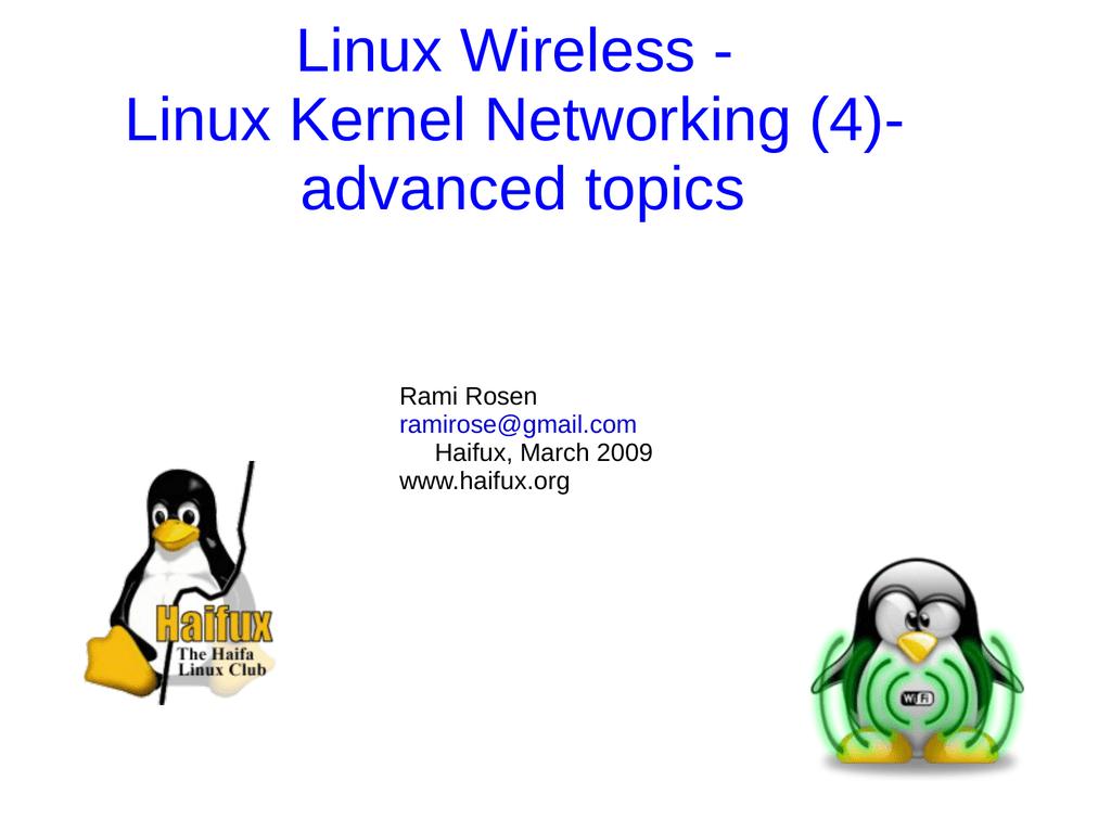 Linux Wireless - Linux Kernel Networking (4) | manualzz com