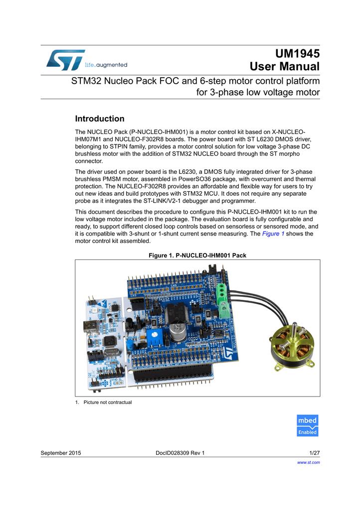 STM32 Nucleo Pack FOC and 6-step motor control platform for 3