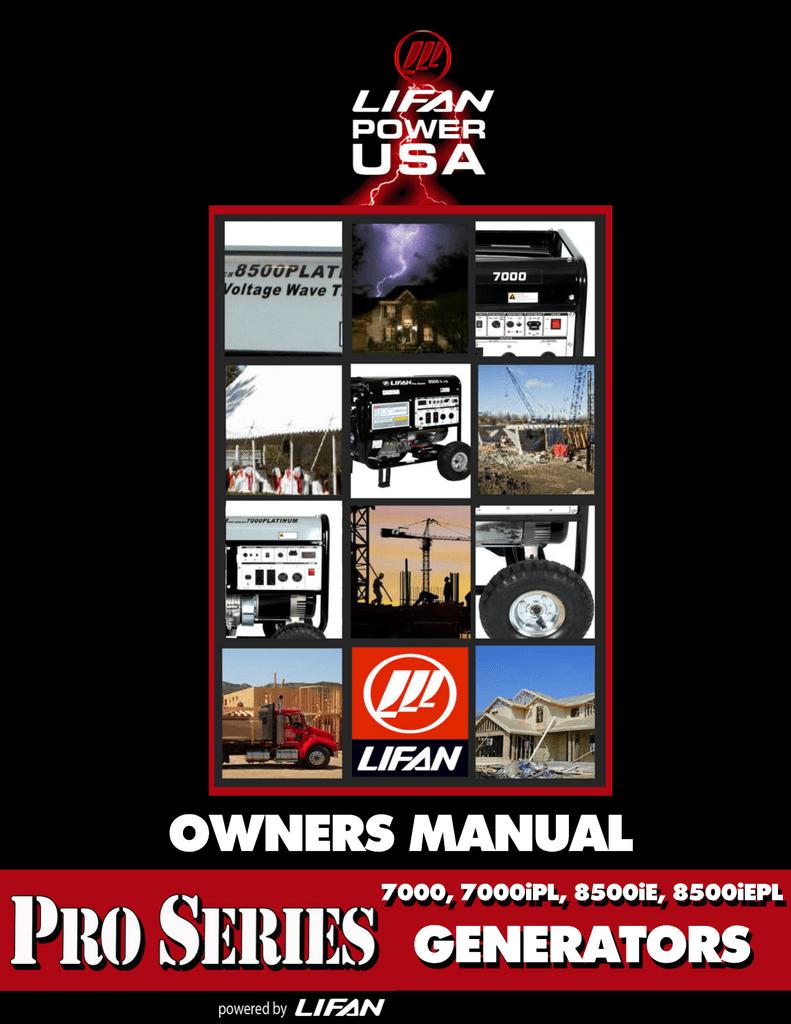 Owner`s Manual - Lifan Power USA | Manualzzmanualzz