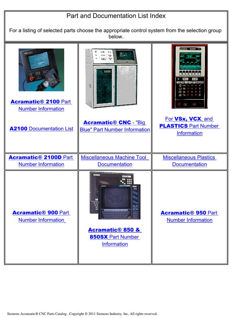 ... Array - part and documentation list index manualzz com rh manualzz com  Array - cincinnati milacron acramatic 850sx manual ...