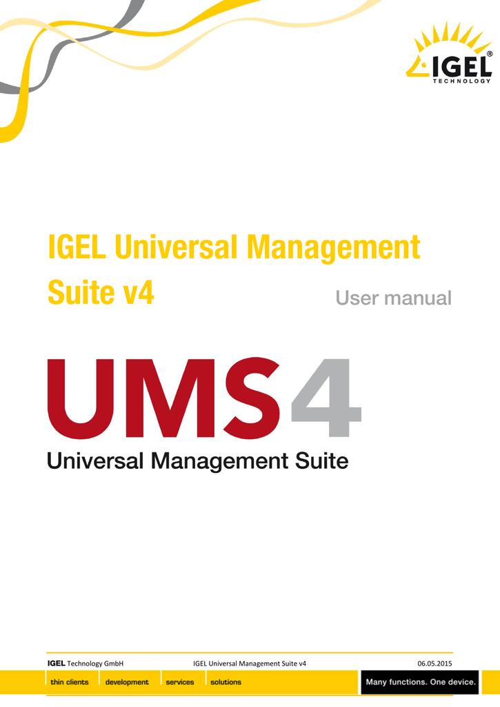 IGEL Universal Management Suite v4   manualzz com