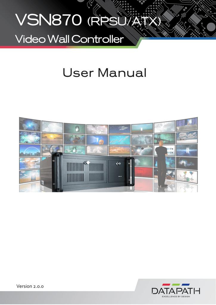 VSN870 wall controller user manual | manualzz com