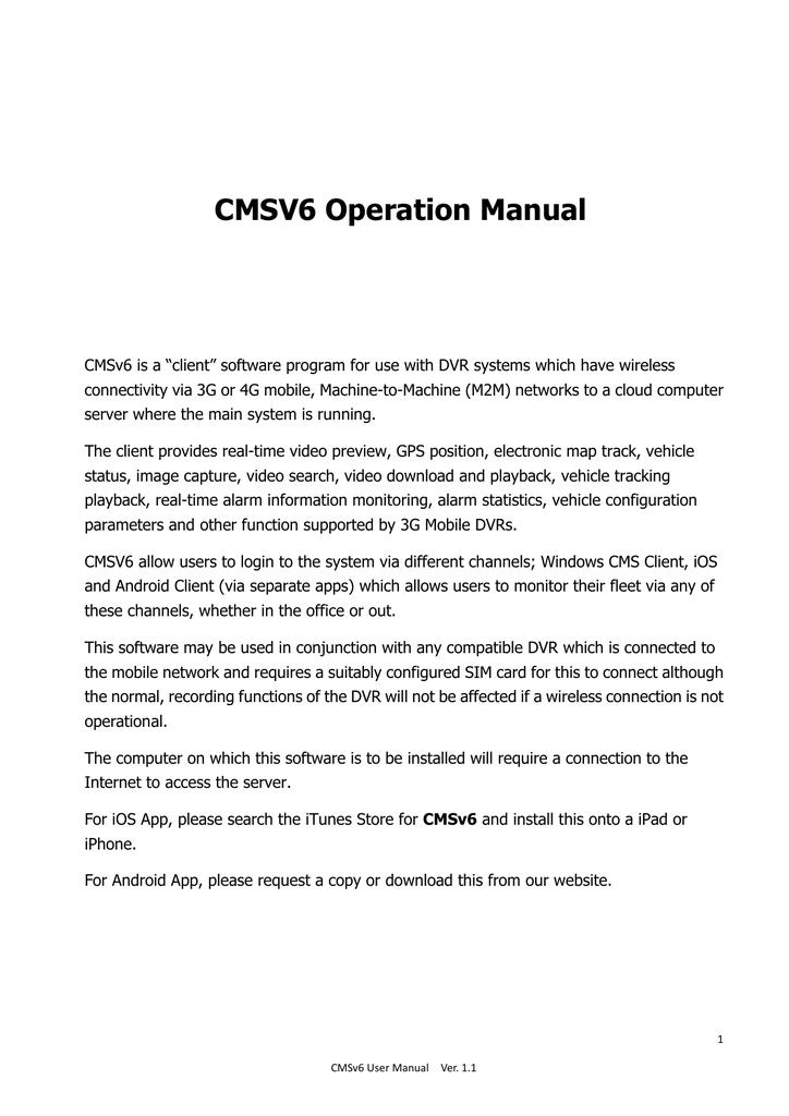 CMSV6_Operation_Manual_V1 13 33 MB | manualzz com