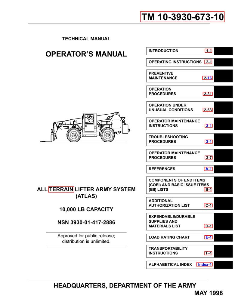 tm 10 3930 673 10 liberated manuals manualzz com rh manualzz com Atlas Snap Relay Wiring Diagram Atlas Lift Wiring Diagrams