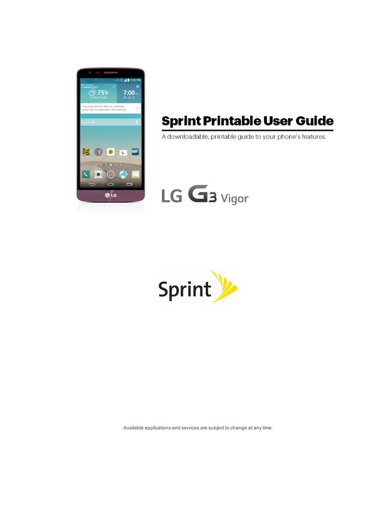 LG G3 Vigor User Guide
