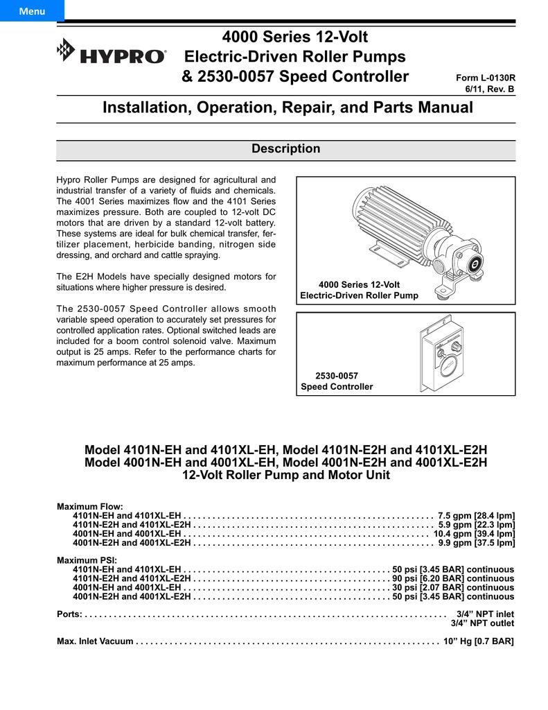 4000 Series 12-Volt Electric-Driven Roller Pumps | manualzz com