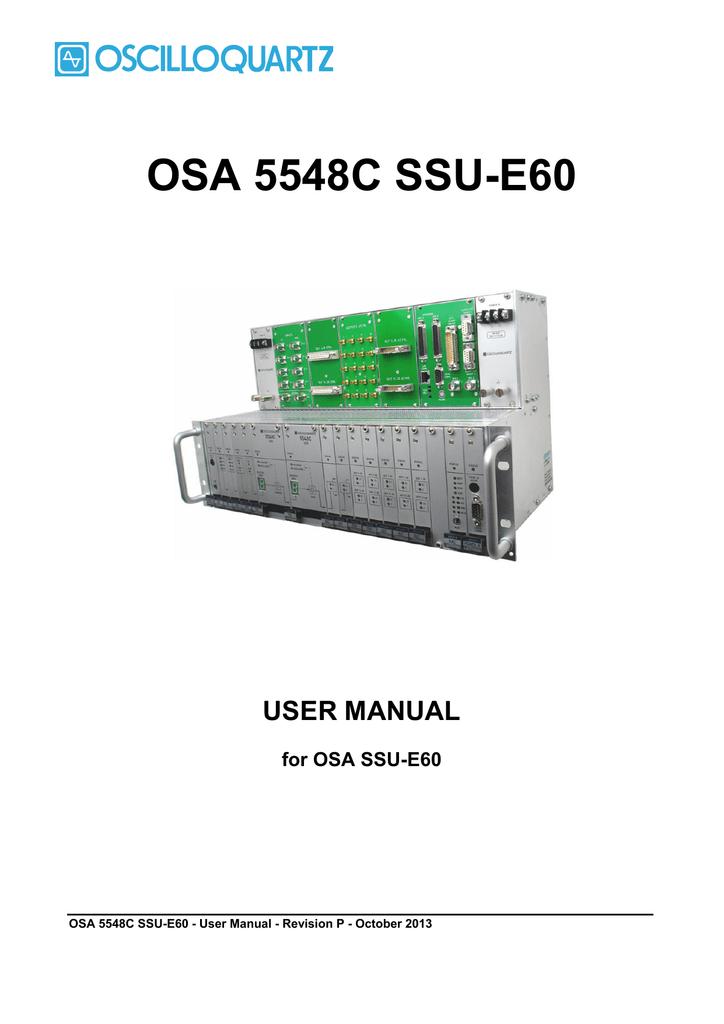 OSA 5548C SSU-E60 | manualzz com