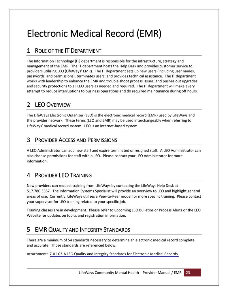 Section 9. EMR | manualzz.com