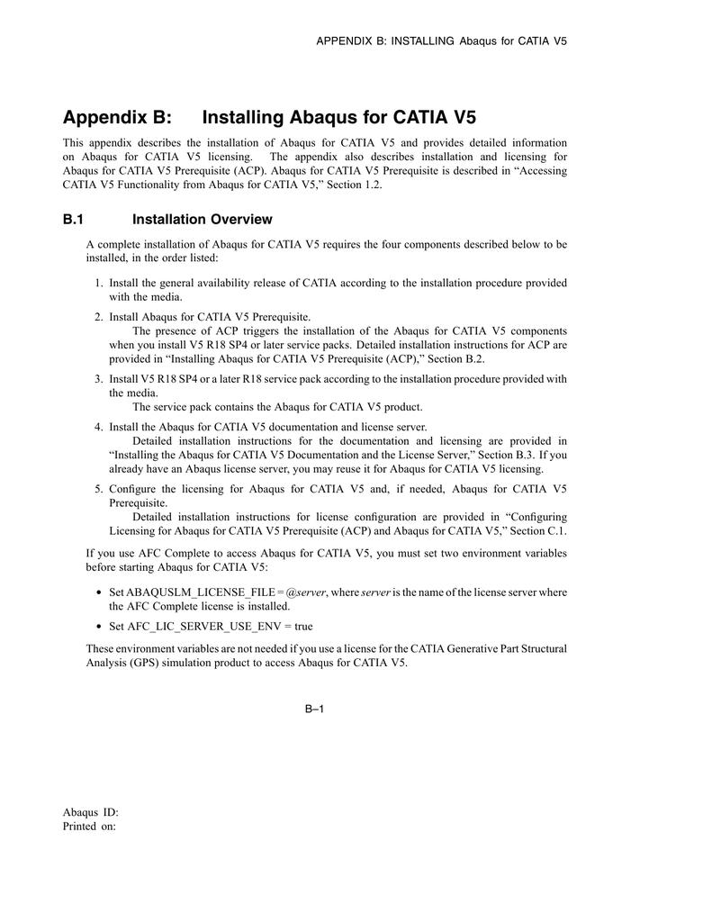Abaqus for CATIA V5 User`s Manual | manualzz com