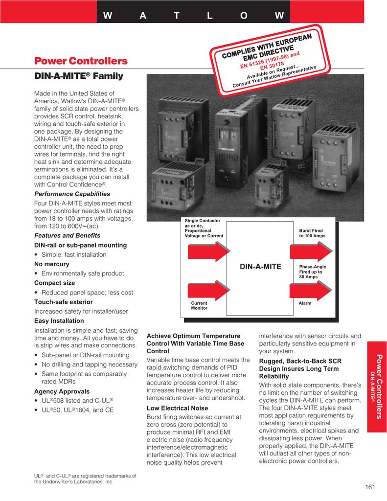 Power Controllers - Watlow | manualzz.com on