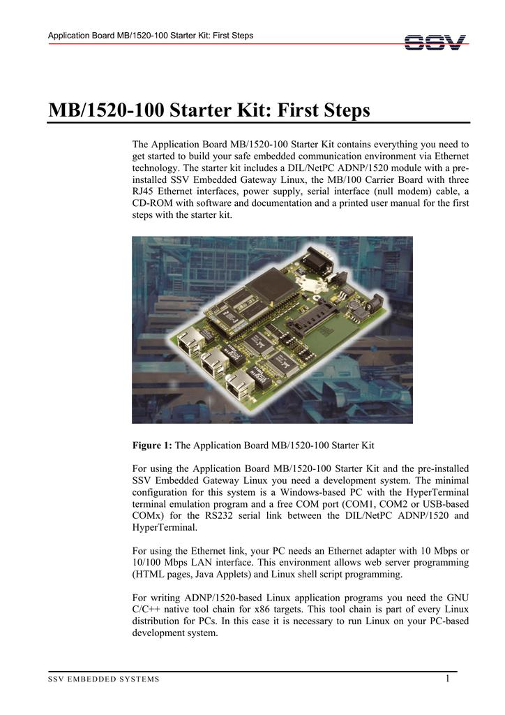 MB/1520-100 Starter Kit: First Steps   manualzz com