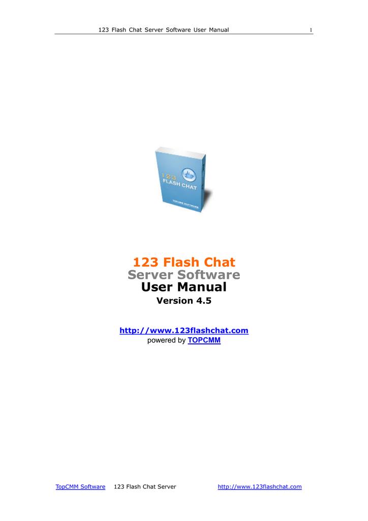 123 flash chat server software user manual | manualzz. Com.