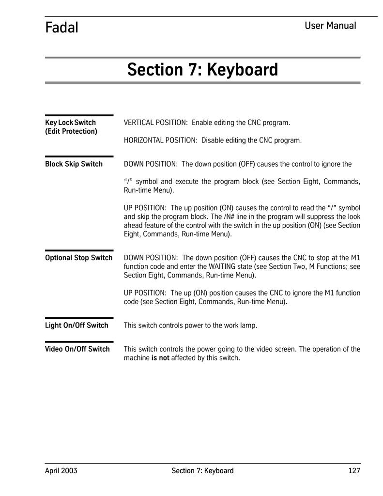 Sect 7-Keyboard - Flint Machine Tools, Inc  | manualzz com