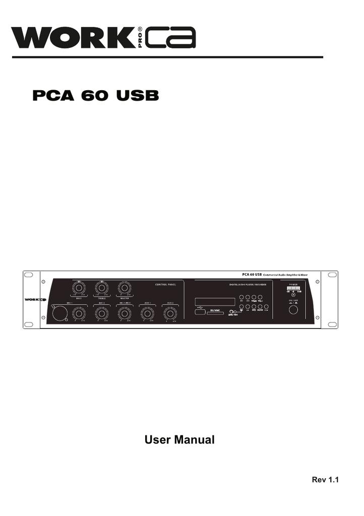 User manual PCA 60 USB (english)