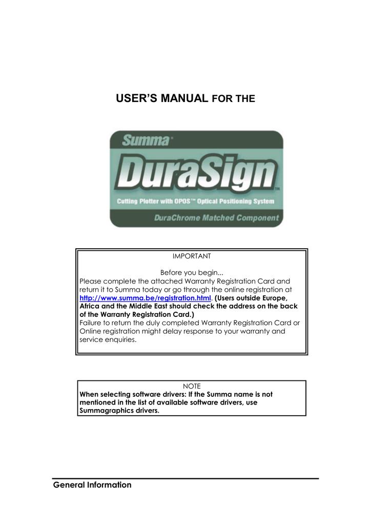 user Manual - Summa Online | manualzz com