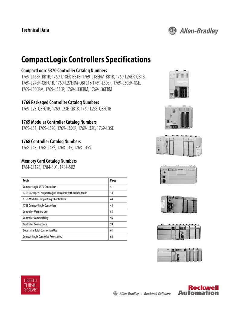 compactlogix 5370 controllers