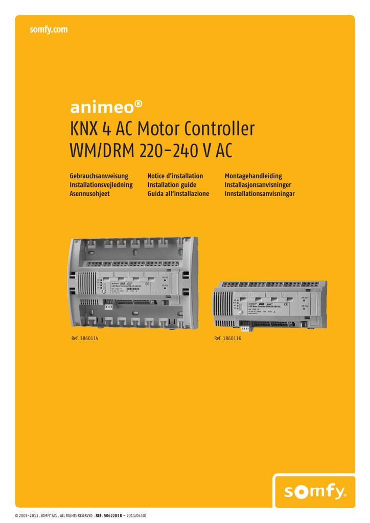 KNX 4 AC Motor Controller WM/DRM 220-240 V AC | manualzz.com