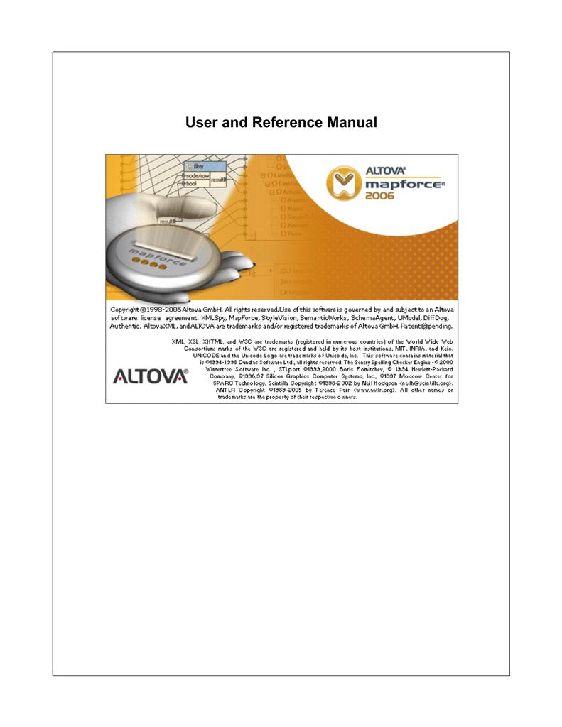 Altova MapForce User Manual | manualzz com