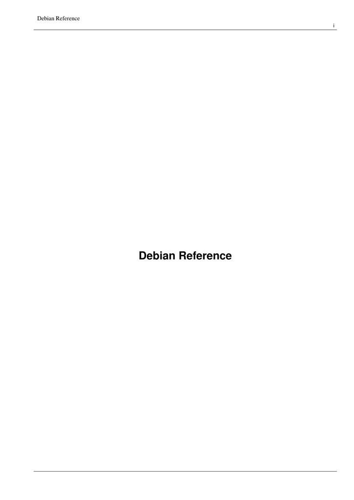 Debian reference guide (23 Feb 2010) | manualzz com