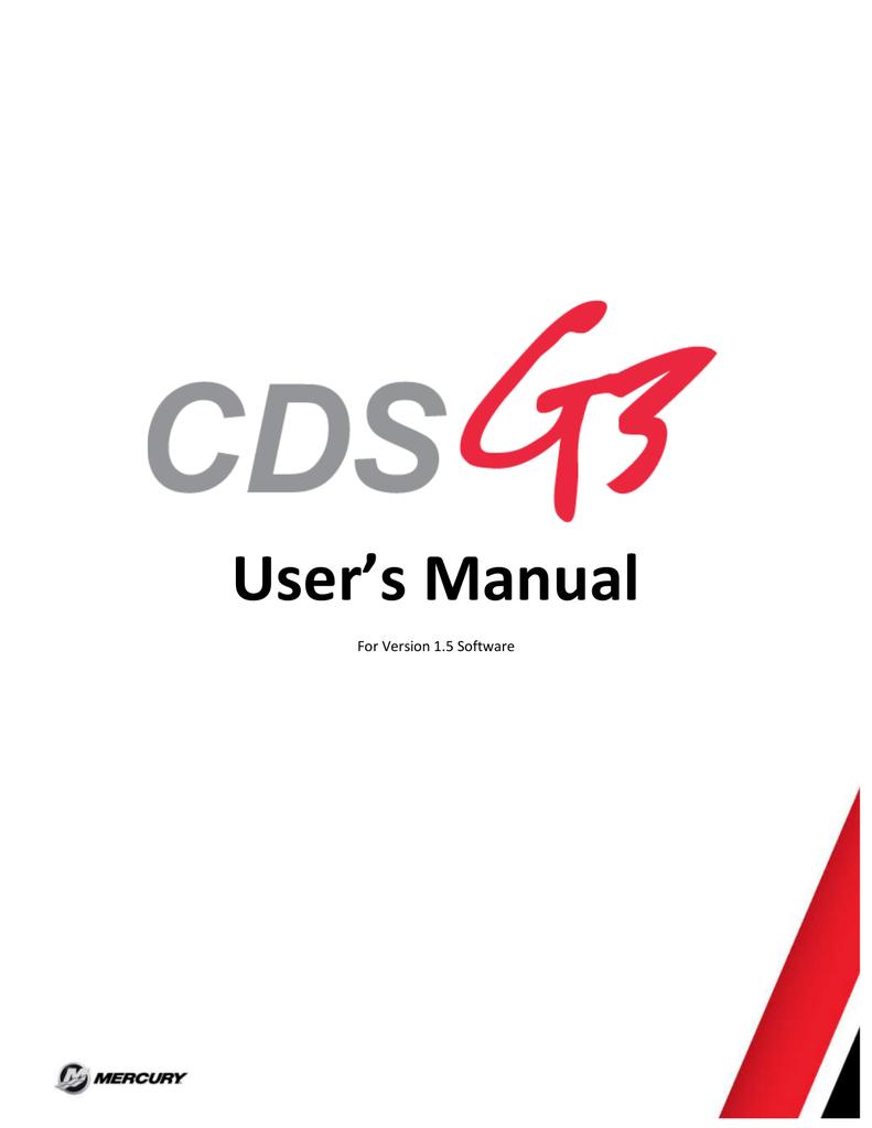 CDS G3 User Manual 1 5 | manualzz com