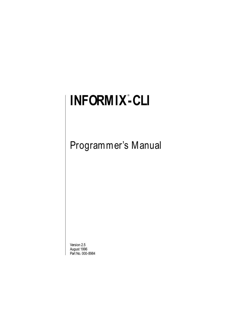 INFORMIX-CLI 2.5 ODBC WINDOWS 10 DOWNLOAD DRIVER
