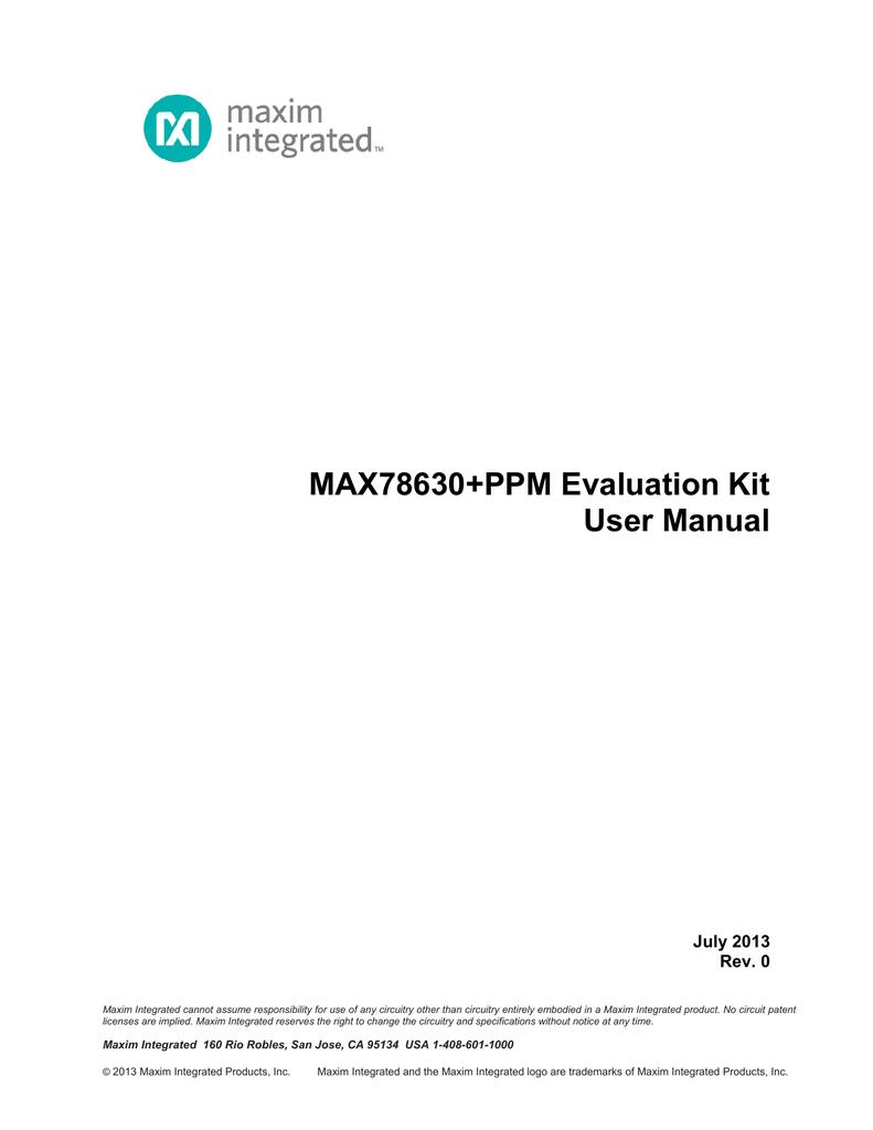 MAX78630+PPM Evaluation Kit User Manual   manualzz com