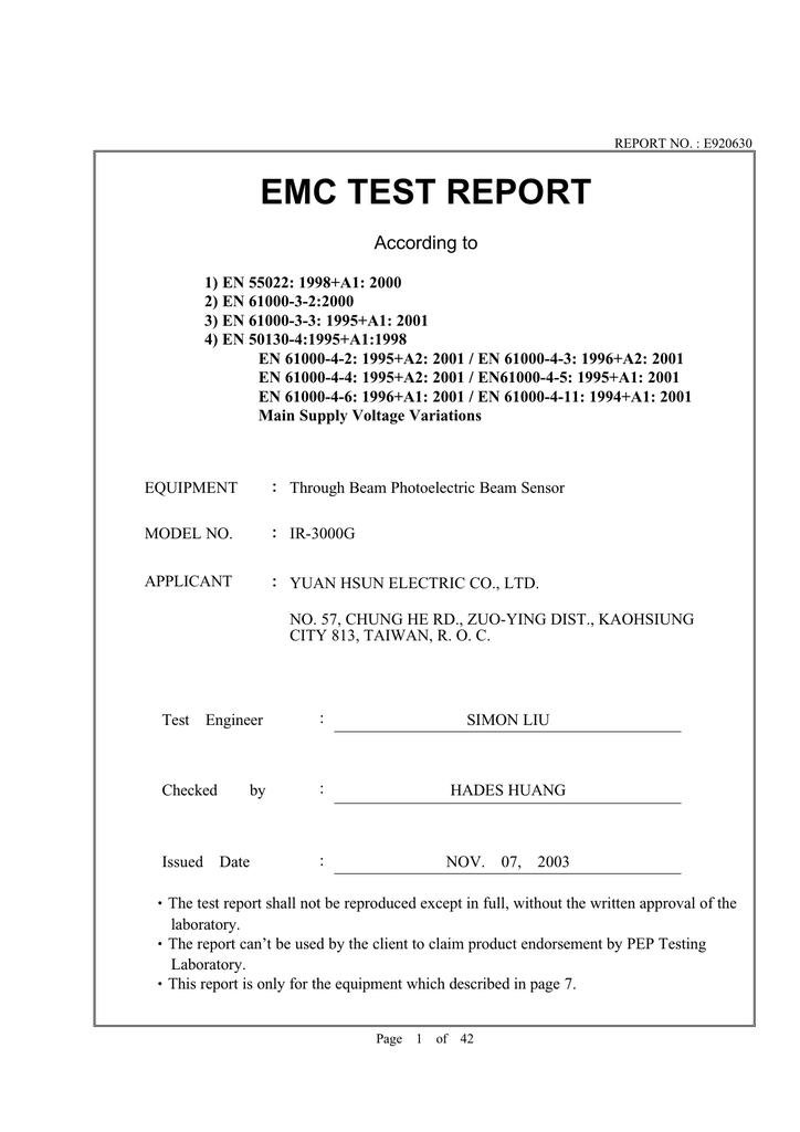 EMC TEST REPORT | manualzz com