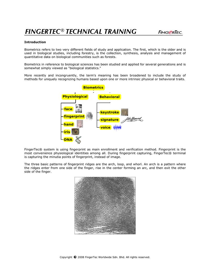 FINGERTEC® TECHNICAL TRAINING | manualzz.com on